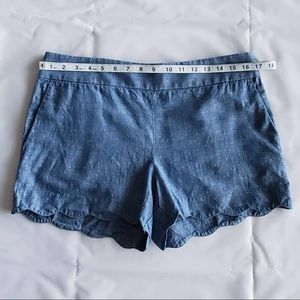 LOFT Shorts - Ann Taylor Loft Riviera Chambray Short | Size 6